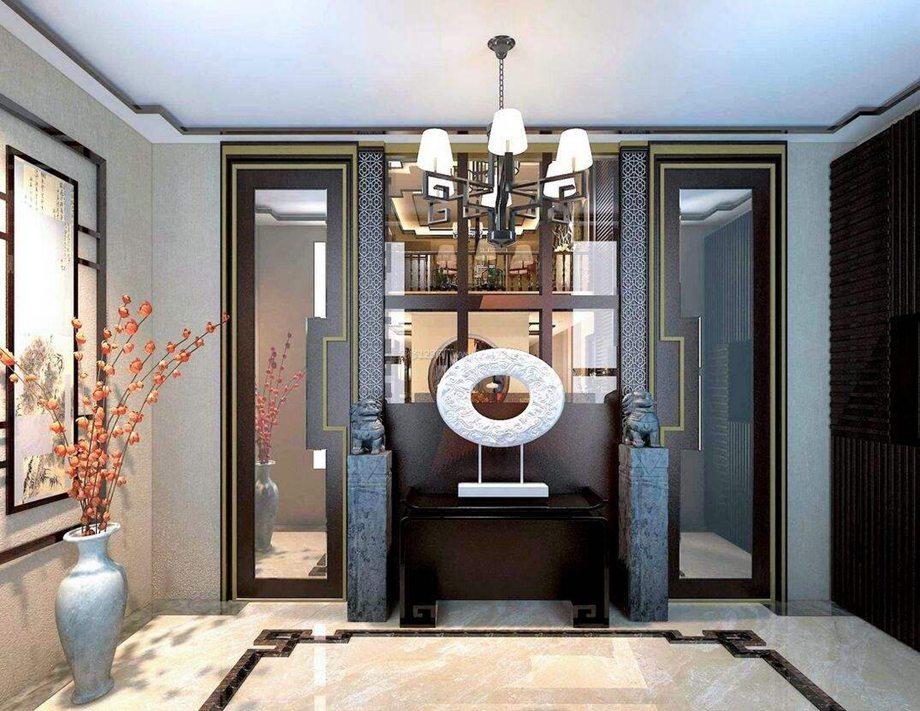北京创意天城装饰银川第二分公司分享中式别墅装修中玄关的设计