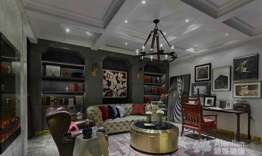 新疆蓝莲装饰分享装修中开放式书房设计的要求和优缺点