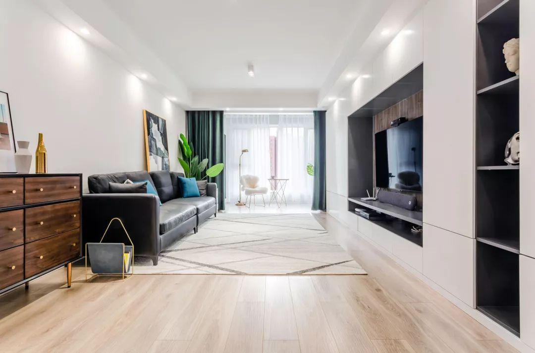 120平的现代风三房,加入一些复古元素,营造格调感!