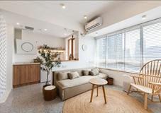 沈阳客厅翻新案例 不吊顶的客厅,这样设计,简单档次!