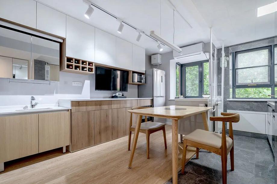 小户型改造 | 60㎡小户型竟然还有12㎡的厨房,功能俱全到犯规
