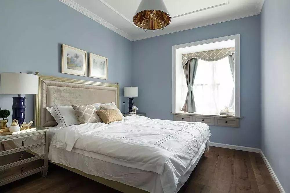 130平轻奢美式风,清新又时尚,客厅美成一道风景!